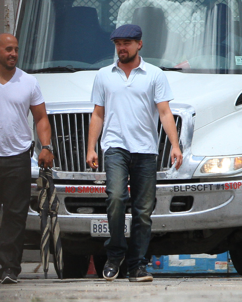 Leonardo DiCaprio was spotted on set in New Orleans.