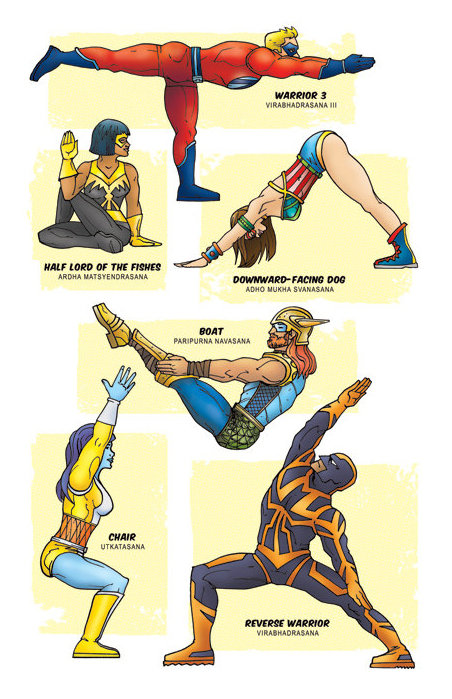 Superhero Yoga Art Print