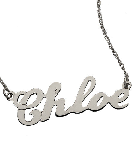 West Avenue Jewelry Name Plate Necklace ($125)