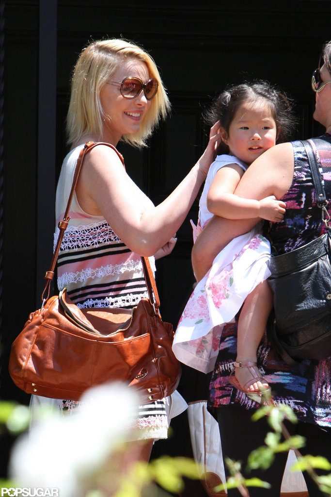 Katherine Heigl visited her mom's LA home with daughter Naleigh Kelley.
