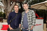 Ben Affleck hung out with a friend at a charity poker tournament in LA.