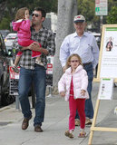 Ben Affleck went shopping with Violet Affleck and Seraphina Affleck in LA for Mother's Day gifts.