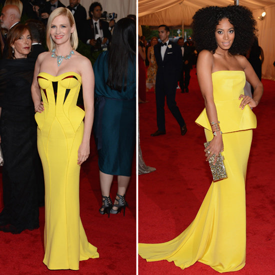 Met Gala Yellow Gowns 2012
