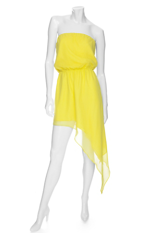 Mason strapless asymmetrical hem dress ($450)