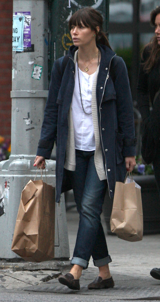 Jessica Biel ran errands in NYC.