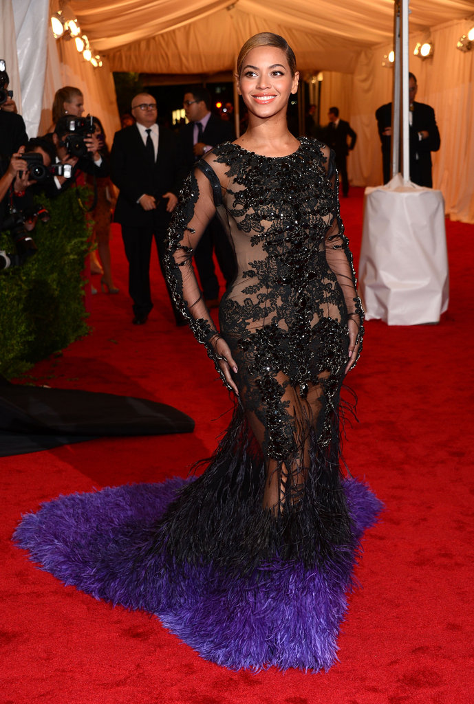 Beyoncé Knowles was one of the last stars to arrive at the Met Gala.