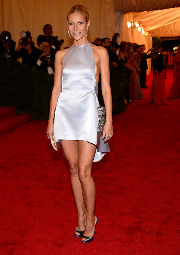 Gwyneth Paltrow showed off her legs in a short Prada dress for the Met Gala.
