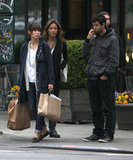 Jessica Biel wore Autumn Cashmere during a walk in NYC.
