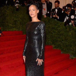 Rihanna Met Gala Red Carpet Dress Pictures 2012