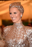 Karolina Kurkova wore a sparking Rachel Zoe number to the Met Gala.