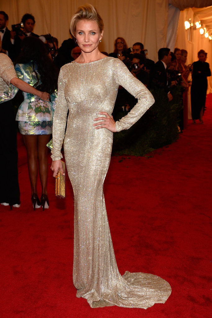 Cameron Diaz donned a Stella McCartney gown at the Met Gala.