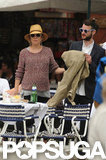 Sienna Miller and Tom Sturridge sat down for some lunch during their vacation in Italy.