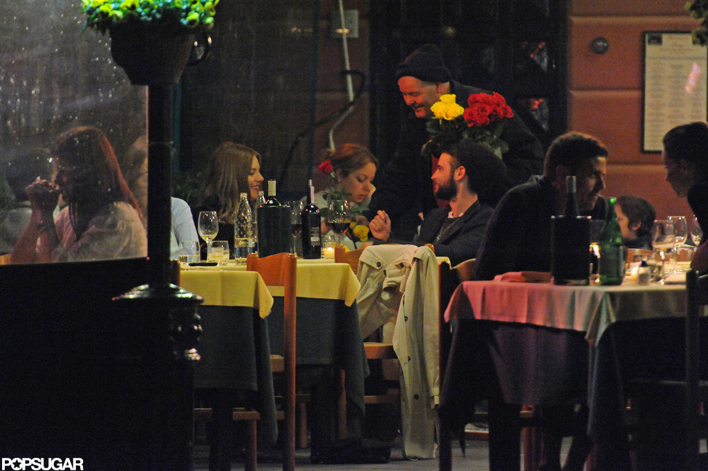 Sienna Miller and Tom Sturridge enjoyed each others company during dinner while on vacation in Italy.
