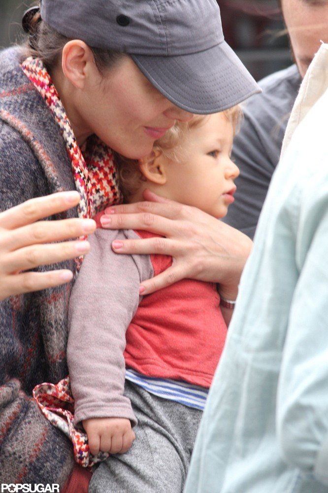 Marion Cotillard brought her son Marcel on set in NYC.