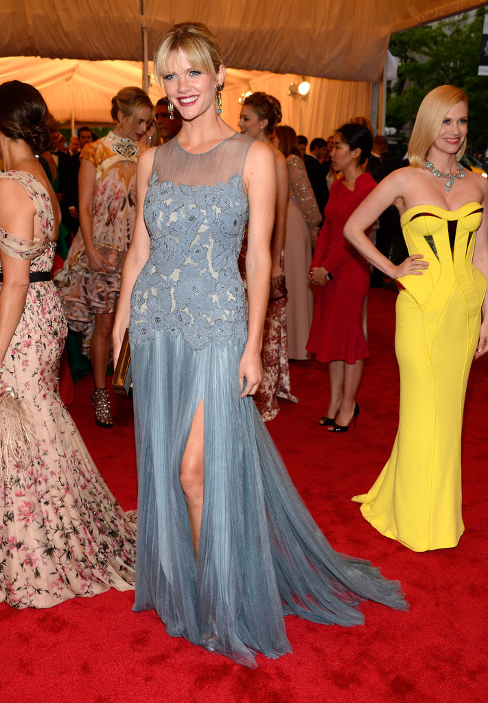 Brooklyn Decker Breaks From Battle in Tory Burch at the Met Gala