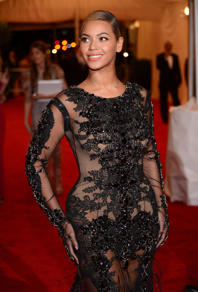 Beyoncé Knowles looked stunning in a see-through design by Givenchy.