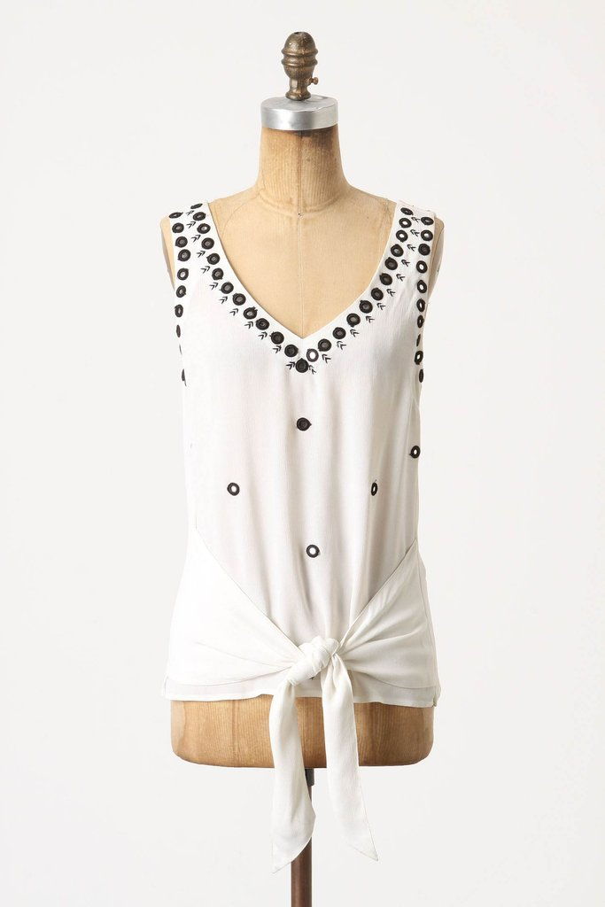 This mirror-beaded tank is super feminine with just the right amount of gypsy flair. LeifNotes Fateful Espejo Silk Tank ($50, originally $98)