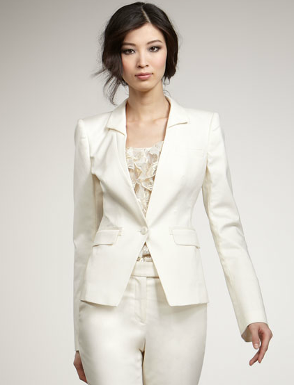 If you haven't added a white blazer to your wardrobe repertoire, now's the time to do so. We love Rachel Zoe's chic tailored rendition.  Rachel Zoe Megan Suit Jacket ($255, originally $425)