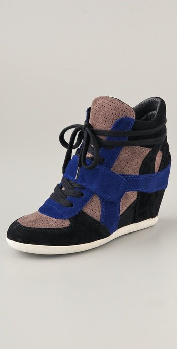 Ash Bowie Suede Wedge Sneakers ($235)