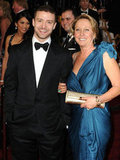 Justin Timberlake's mum, Lynn Harless, accompanied her superstar son to the Oscars in 2011.
