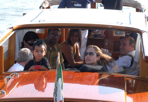 Angelina Jolie took a boat ride with Maddox during the 2004 Venice Film Festival.