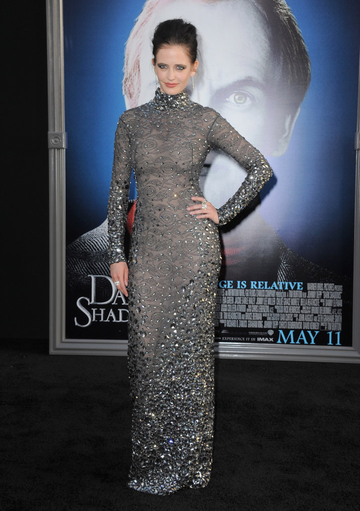 Eva Green got into character in a long-sleeve dress at the Dark Shadows premiere in LA.