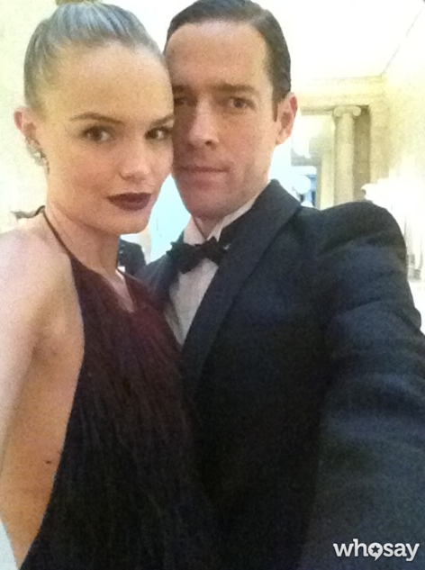 Kate Bosworth and Michael Polish got serious for a photo. Source: Kate Bosworth on WhoSay