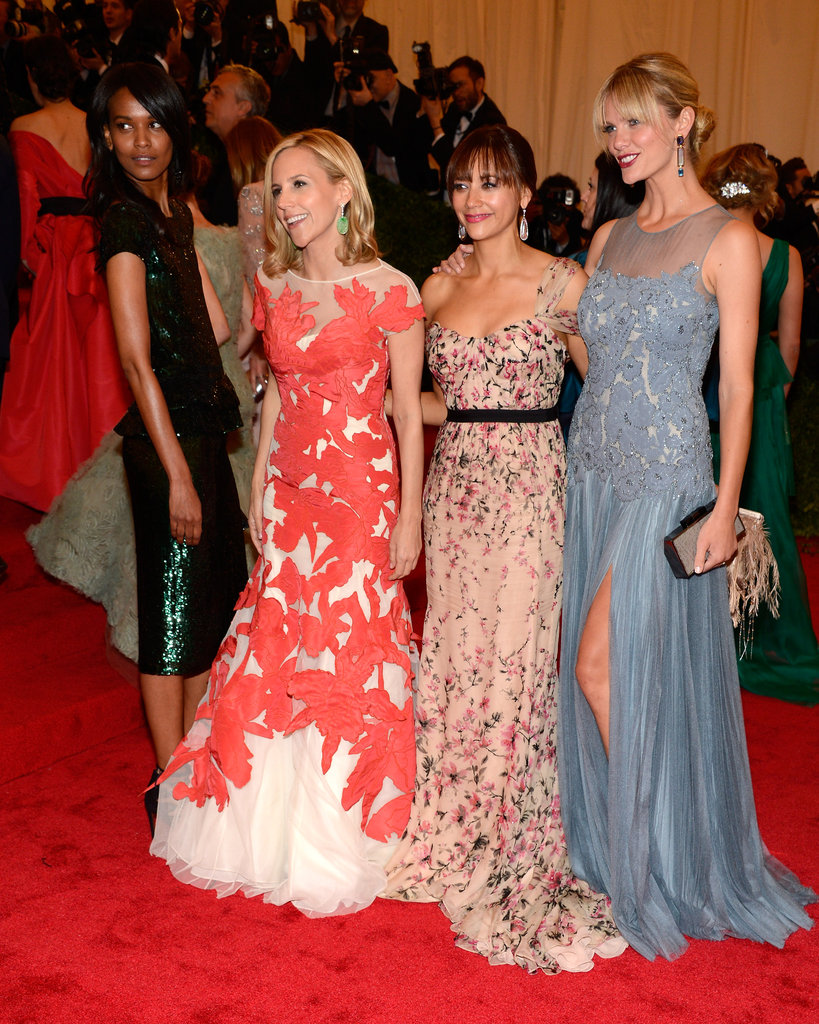 Tory Burch had her ladies Liya Kebede, Rashida Jones, and Brooklyn Decker beside her.