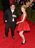 Emma Stone got goofy on the red carpet with Lanvin designer Alber Elbaz.