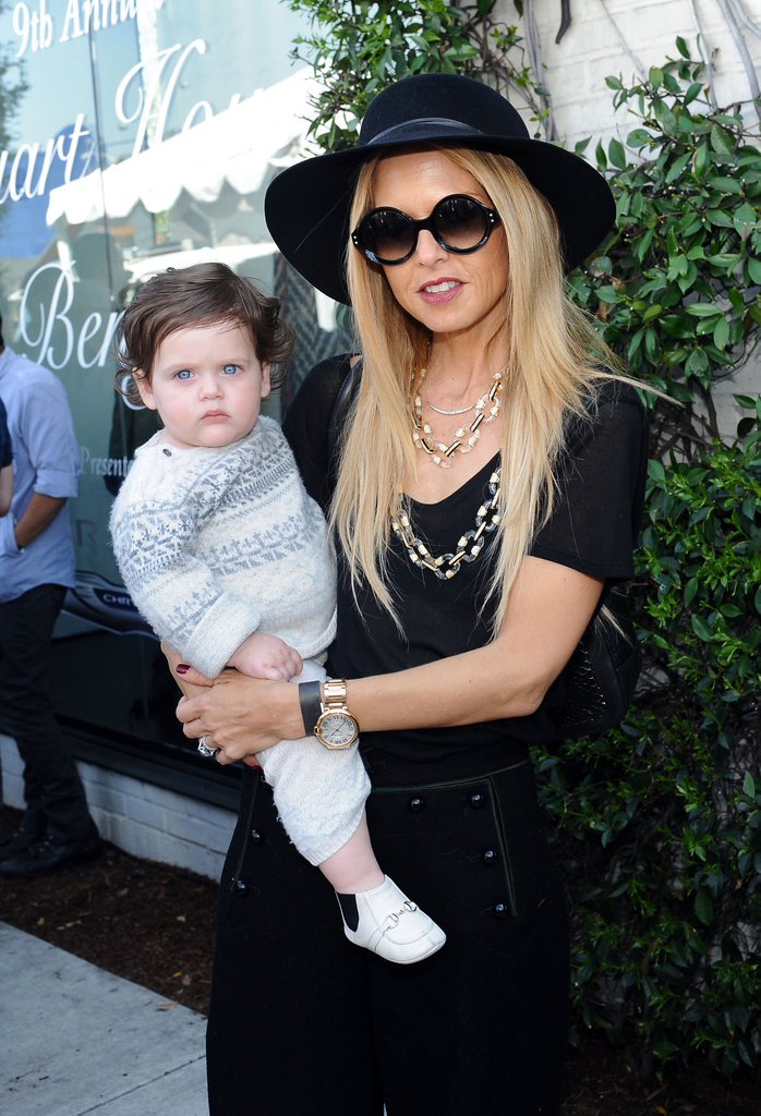 Rachel Zoe brought son Skyler Morrison Berman along to an LA charity benefit in March 2012.