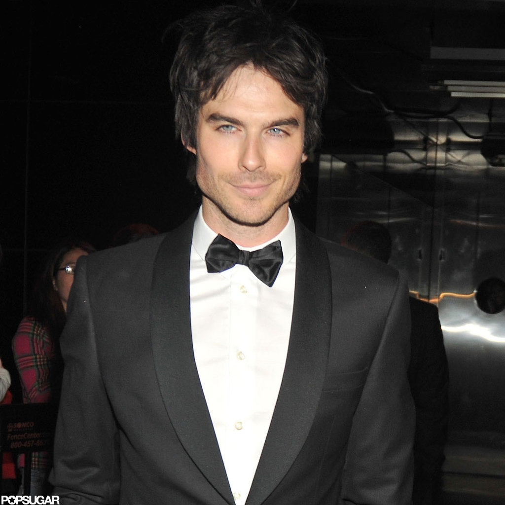 Ian Somerhalder gave a smile on his way to an after party for the Met Gala.