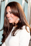 Kate Middleton was all smiles as she arrived at Claridge's in London.