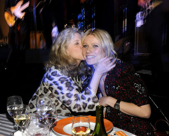 Blythe Danner planted a kiss on daughter Gwyneth Paltrow during a charity event in NYC in 2008.