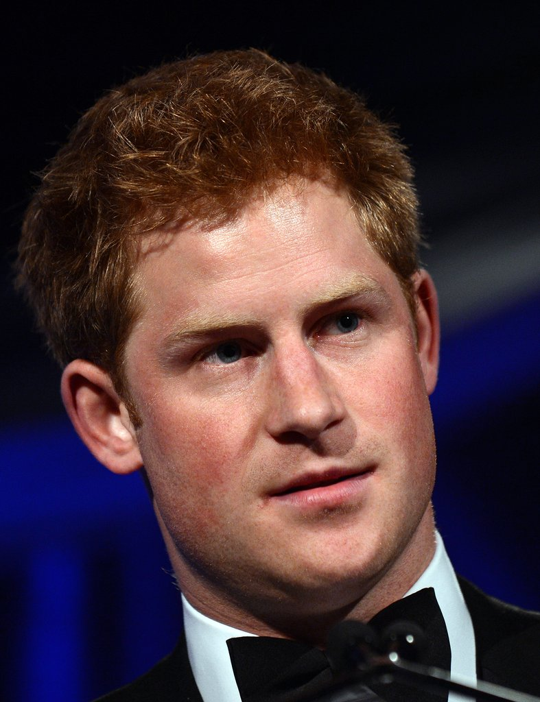 Prince Harry wore a tuxedo and accepted the Distinguished Humanitarian Leadership Award in Washington DC.
