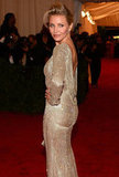 Cameron Diaz struck a pose in Stella McCartney at the Met Gala.