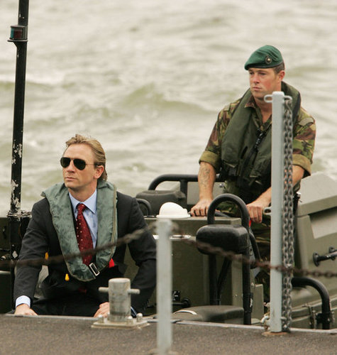 Daniel Craig was revealed as the newest James Bond with a boat arrival in October 2005.