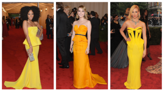 Celebrities Embrace Spring's Hottest Dress Trend — Peplum — at the Met Gala!