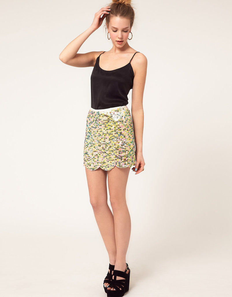River Island Multi Sequin Miniskirt ($78)