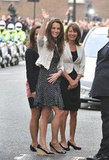Kate Middleton arrived at The Goring Hotel with her mom, Carole, and sister Pippa Middleton in April 2011.