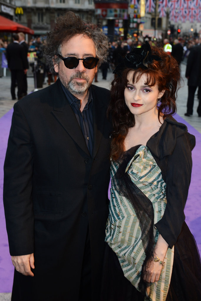 Tim Burton and Helena Bonham Carter posed together at the Empire Leicester Square in London.