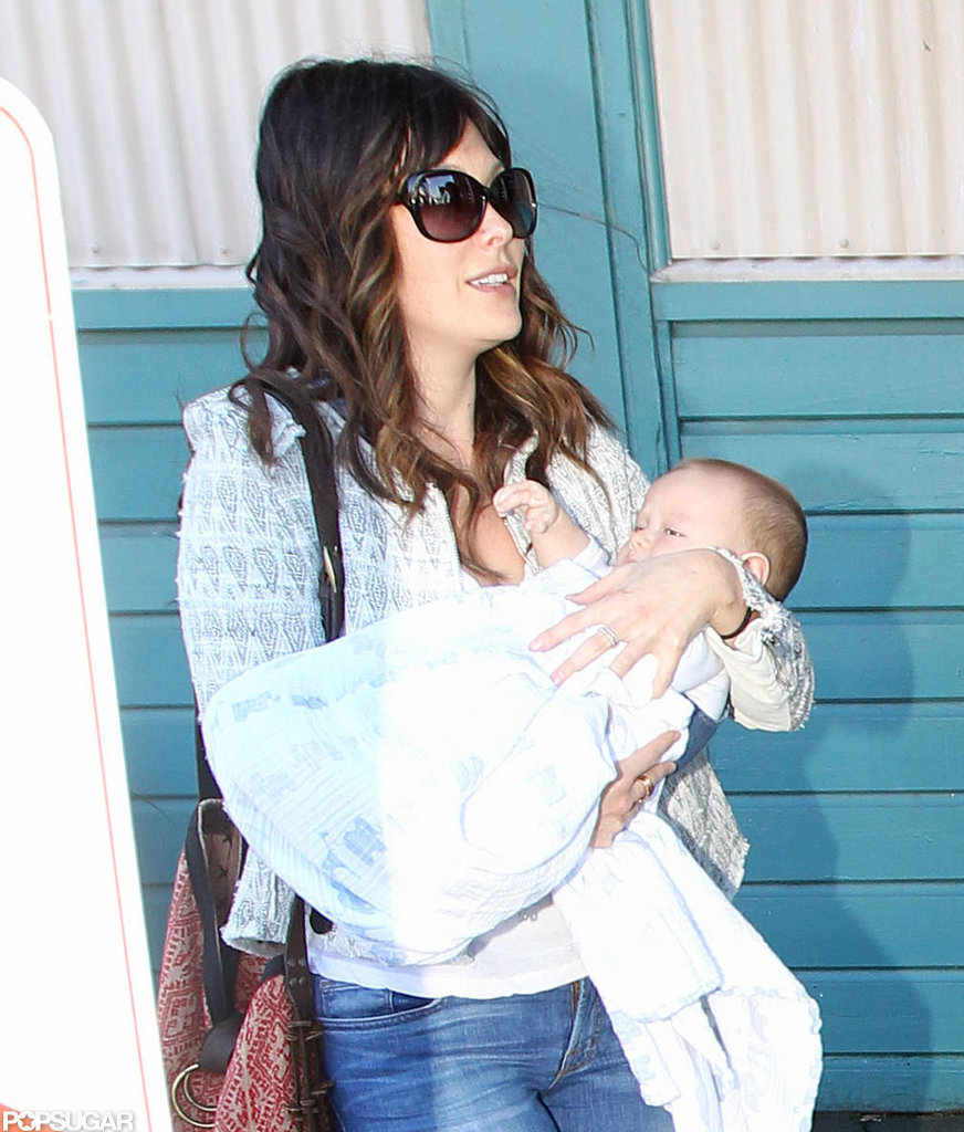 Lindsay Price brought her first child, Hudson Stone, into the world in November 2011.