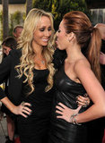 Miley Cyrus joked around with her mum, Tish, at the The Last Song's LA premiere in March 2010.