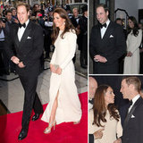 Kate Middleton Pairs a High-Slitted Gown With Jimmy Choos For a Night With William