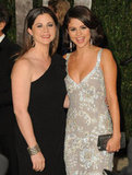 Selena Gomez was all smiles posing for photos with her mom, Mandy, at the February 2012 Vanity Fair Oscar party held in LA.