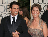 Tom Cruise brought his mom, Mary, as his date to the January 2011 Golden Globe Awards.