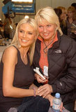 Heidi Klum and her mum, Erna, hung out backstage at the ninth annual Victoria's Secret Fashion Show in November 2003.