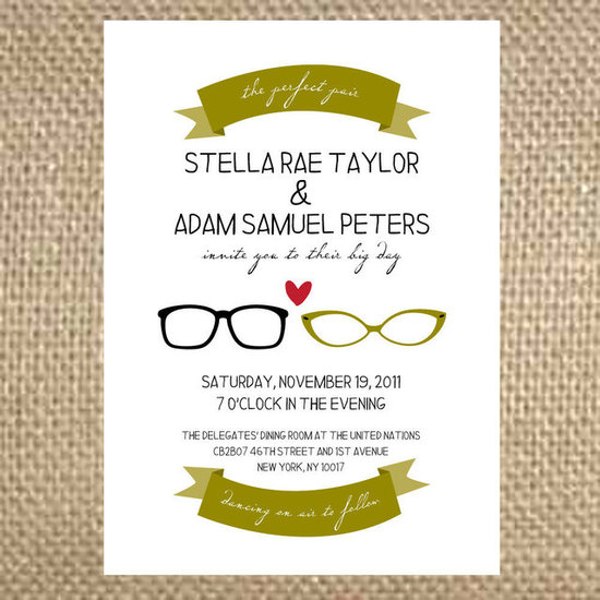 Perfect Pair of Glasses Invitations ($4)