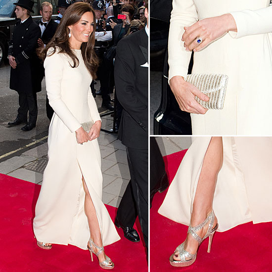 Kate Middleton Dazzles (and Flashes a Little Leg!) in a Slit Roland Mouret Gown — See Every Angle