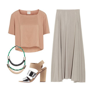 How to Wear Blush and Taupe