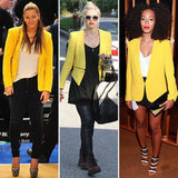 Hollywood's Latest Blazer Obsession: Bright Yellow